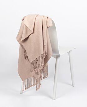 Romano bamboo throw - dusty pink