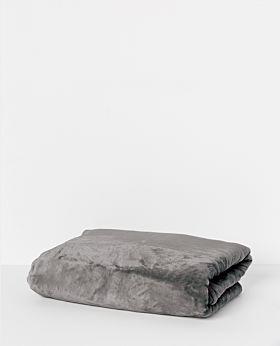 Salisbury fleece blanket - dark grey