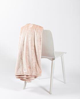 Salisbury fleece blanket - blush