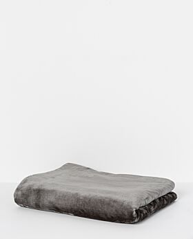 Salisbury fleece blanket - dark grey
