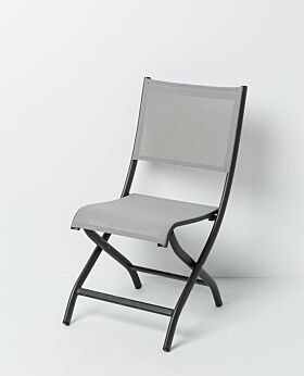 Solo folding chair - charcoal frame