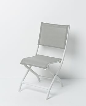 Solo folding chair - white frame