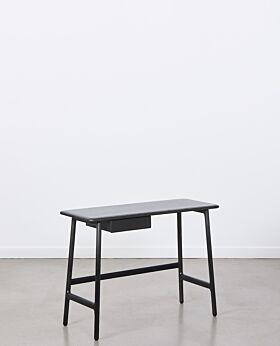 Sonnet oak desk with drawer - black
