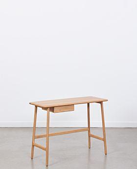 Sonnet oak desk with drawer - natural