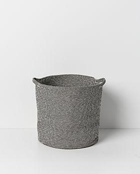Sorrel round basket - grey-black - set of 3