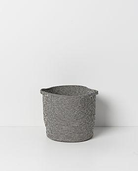 Sorrel round basket - grey-black - medium