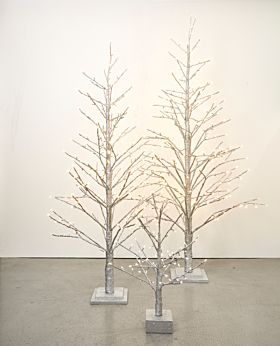 Spruce LED tree - silver