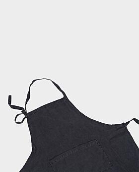 St Claire linen apron - slate