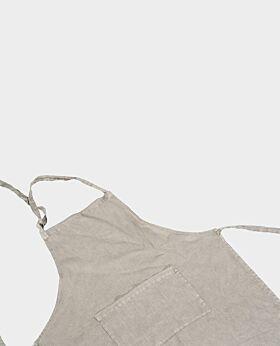 St Claire linen apron - stone