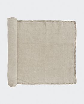 St Claire linen table runner - stone