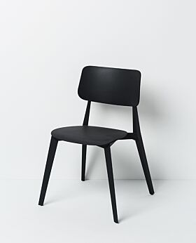 Stellar stackable dining chair - black