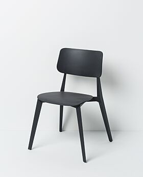 Stellar stackable dining chair - charcoal
