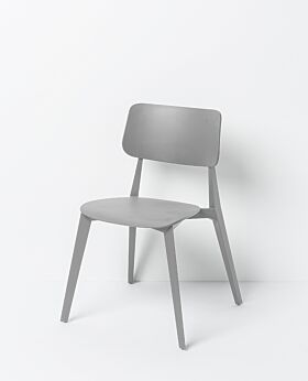 Stellar stackable dining chair - grey