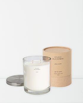 Studio Alchimia soy candle in glass jar