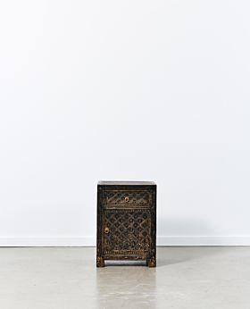 Vecchio bed side table - vintage black