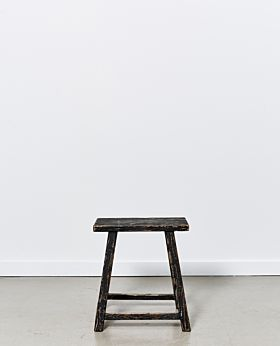 Vecchio rectangular stool - black