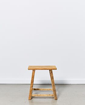 Vecchio rectangular stool - natural