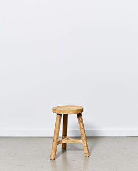 Vecchio round stool - natural