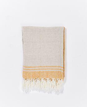 Whitehaven linen throw - butterscotch