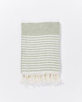 Whitehaven linen throw - pistachio