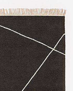 Zadie wool rug charcoal