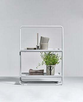 Zone A-table shelf unit - soft grey - small