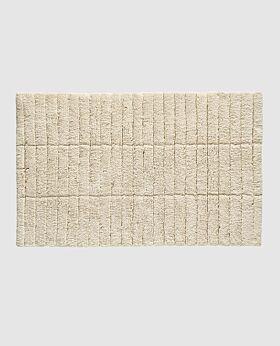 Zone tiles bath mat - wheat