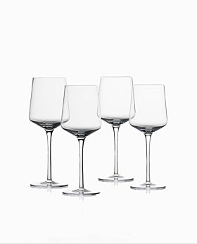 Zone rocks red wine crystal glass - set of 4