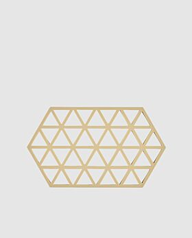 Zone triangle trivet - warm sand - large
