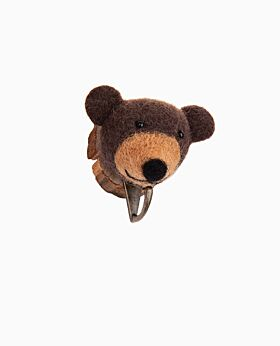 Zoo Story mounted bear w hook