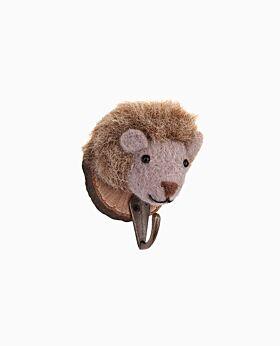 Zoo Story mounted hedgehog w hook