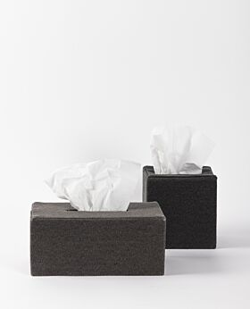 Tela canvas tissue box - black
