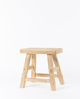 Vecchio mini rectangular stool - natural