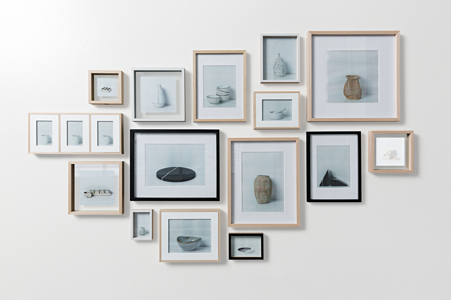 Gallery walls: the art of frames